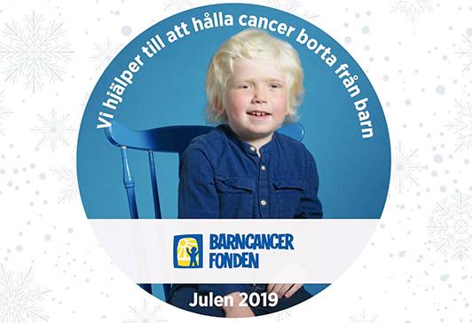 Vi stöder Barncancerfonden